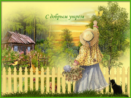 Старые открытки с добрым утром летние