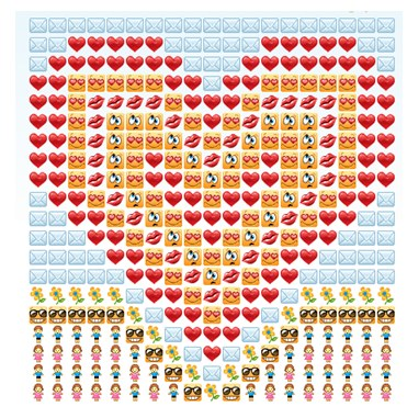 Как сделать из смайликов сердце в одноклассниках