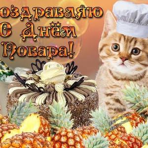 Поздравление с днем повара открытка