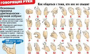 Открытка для глухонемых